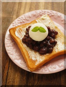 * あんバター&雪見大福トースト♪