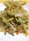 中華風カニカマときゅうりともやしのサラダ