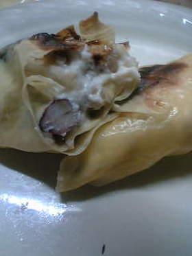 豆とチーズの湯葉巻