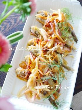 ししゃもと香味野菜の南蛮漬け風マリネ