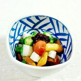 オクラ・なめこ・長芋のネバネバ酢の物♪