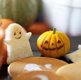 ハロウィン♪かぼちゃの茶巾