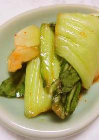 *チンゲン菜の簡単キムチ*