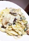 五右衛門風☆鶏とチーズのクリームパスタ