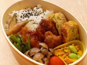 鶏唐揚げ(梅風味)のバランス弁当