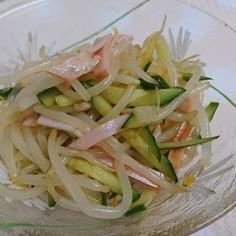 簡単!きゅうり・ハム・もやしで中華サラダ
