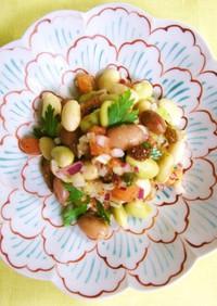 お豆とトマトの雑穀香味サラダ