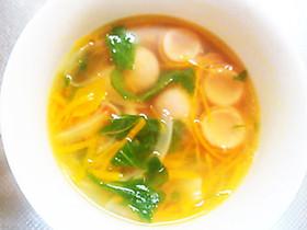捨てないで!セロリの葉のスープ