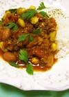 牛ミンチと豆のスパイシートマト煮