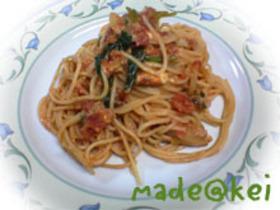 トマトツナスパゲティ