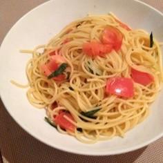トマトと大葉のスパゲティ