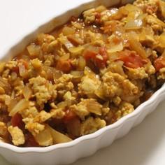 鶏ミンチ+塩麹deカレー風味ミートソース