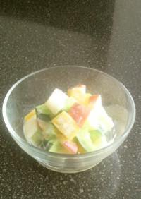 さつま芋とりんごのサイコロサラダ