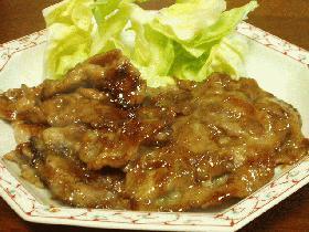 美味しくできたよ~(^○^)豚の生姜焼き!