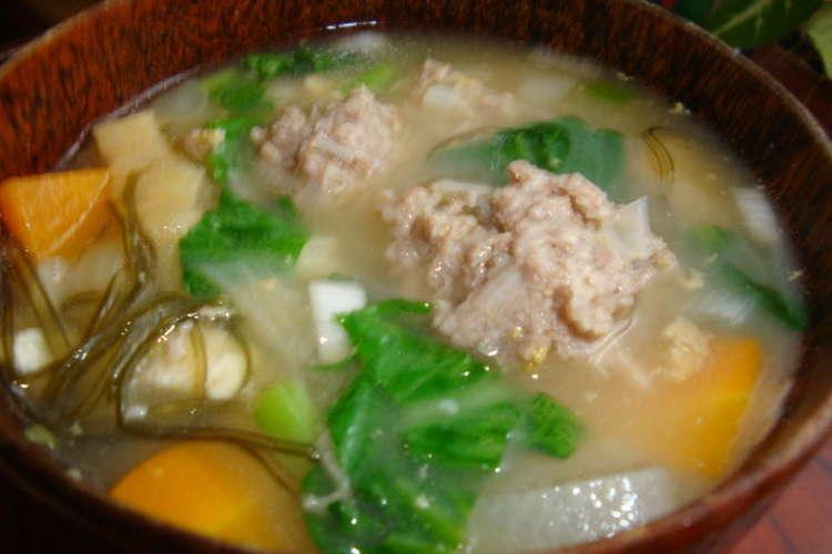 味噌汁 肉 団子