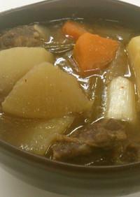 大量☆牛タンと根菜の和風ポトフ