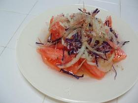 トマト&玉葱のサラダ さっぱり味