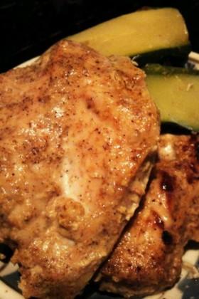グリルパンで☆鶏とズッキーニのカレー風味