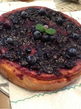 ブルーベリー  チーズケーキ