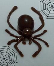 ハロウィンにも♪チョコで蜘蛛の写真