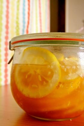 ジンジャーレモンの蜂蜜漬け