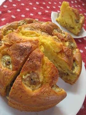 バナナキャラメルパウンドケーキ