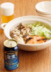 きのこと鮭と白菜のガーリック鍋