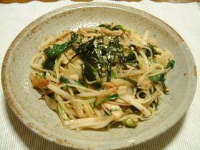 大根とツナとわかめのスパゲッティ