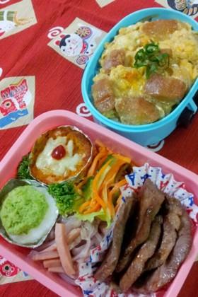 柔らか牛タン&仙台麩の卵とじ弁当♪