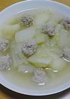 ◎鶏団子と白菜じゃがのあっさり塩スープ