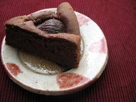 栗のガトーショコラ