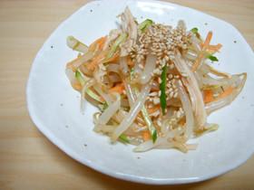 ポン酢で作るもやしとささみの中華サラダ