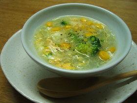 ブロッコリーと春雨のとろみスープ
