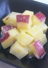 レンジdeサツマイモの練乳煮☆弁当