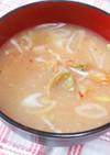 たまねぎ氷で超腸美人☆キムチ味噌汁♪