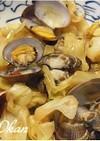 キャベツとアサリの蒸し煮