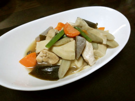 簡単♪和食おかず『高野豆腐と鶏の煮物』♡