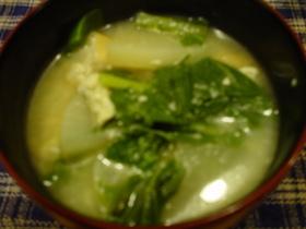 あぼし(青菜)の粕汁