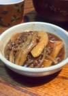 竹の子、舞茸、ひき肉の甘辛煮