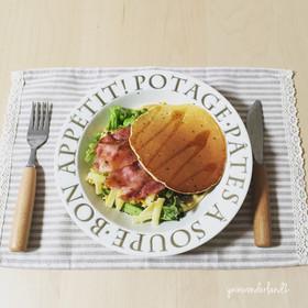 ベーコンメイプルパンケーキ