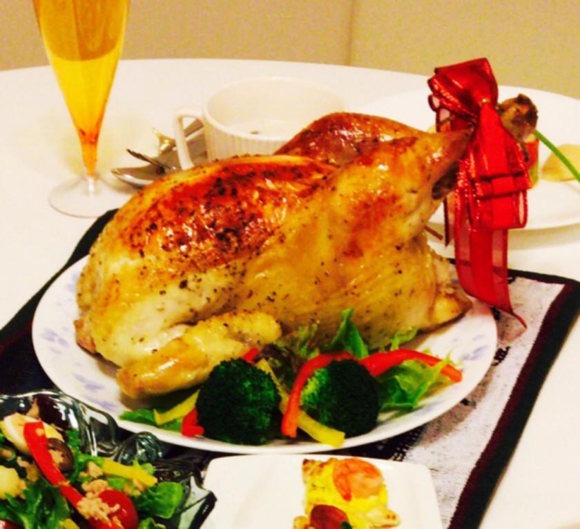 丸鶏ローストチキン*ピラフ詰め*
