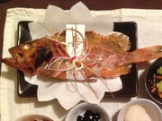 お食い初めに♡魚の塩焼きの写真