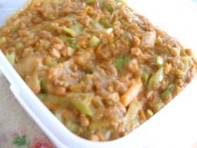 ごはんがすすむ挽肉納豆