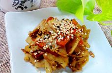 蓮根と生姜のカレー風味きんぴら♪