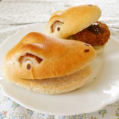 恐竜パン♪ ティラノ風バーガーパン