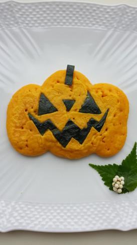 かぼちゃのホットケーキ♪ハロウィンに♪