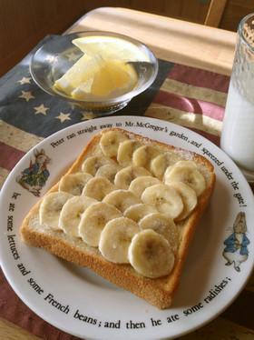 朝食・おやつに バナナトースト♪