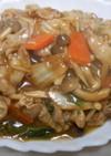 本つゆで白菜と豚肉のあんかけ丼