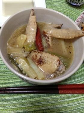 風邪撃退!参鶏湯風 鶏手羽ねぎスープ