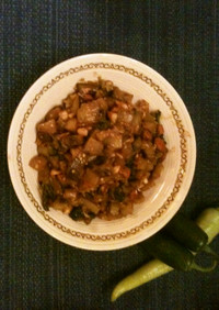 一カケのカレールーで簡単、茄子の副菜